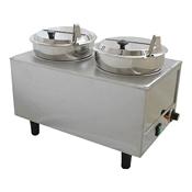Benchmark USA 51072P Dual Well Warmer - Soup Food Warmers