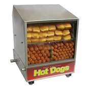 Benchmark USA 60048 The Dog Pound Hotdog Steamer - Hot Dog Equipment and Supplies