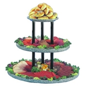 "Buffet Enhancements 24"" Acrylic Granite Chefstone Triple Tier Riser - Display Risers"