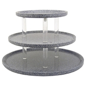 "Buffet Enhancements 30"" Acrylic Granite Chefstone Triple Tier Riser - Display Risers"