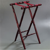 "Carlisle Wood 31"" Deluxe Mahogany-Finish Tray Stand - Tray Stands"
