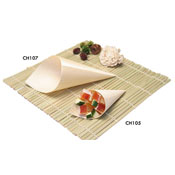 Gourmet Display Medium Disposable Wooden Cones - Servingware
