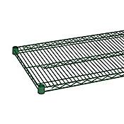 """Economy 14"""" x 48"""" Green Wire Shelf"""