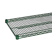 "Economy 14"" x 72"" Green Wire Shelf"