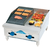 Comstock FHP36-24 Hotplate/Griddle - Countertop Gas Commercial Griddles
