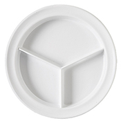 "G.E.T. Supermel 9"" Deep Compartment Plates - Dinner Plates"