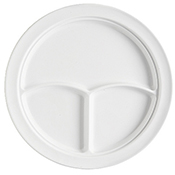 "G.E.T. Supermel 10"" 3-Compartment Plates - Dinner Plates"