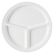 "G.E.T. Supermel II 10"", 3-Compartment Plates - Dinner Plates"