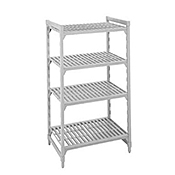 "Cambro Camshelving 24""W x 60""L x 64""H 4-Shelf Vented Add-On Unit"