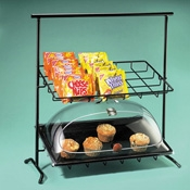 Cal-Mil 2 Tier Iron Sloped Rack - Display Risers