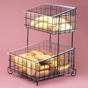 Cal-Mil 2-Tier Wire Rack with Plastic Inserts - Display Risers