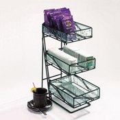 Cal-Mil Aqua Tea Center Display - Display Risers