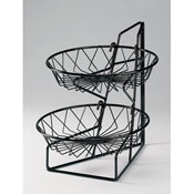 Cal-Mil 3-Tier Wire Round Basket Rack - Display Risers