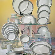 "G.E.T. Cambridge Dinnerware 10.25"" 3-Compartment Plates - Dinner Plates"