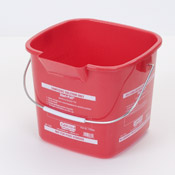 Carlisle 2.5 Qt Red Steri-Pail - Buckets and Pails