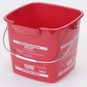 Carlisle 6 Qt Red Steri-Pail - Buckets and Pails