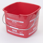 Carlisle 8 Qt Red Steri-Pail - Buckets and Pails