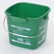 Carlisle 2.5 Qt Green Suds-Pail - Buckets and Pails