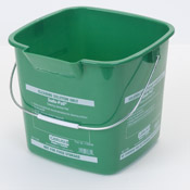 Carlisle 6 Qt Green Suds-Pail - Buckets and Pails