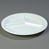 "Carlisle 10.5"" 3-Compartment Plate - Dinner Plates"