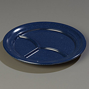 "Carlisle 9-3/4"" 3-Compartment Plates - Dinner Plates"