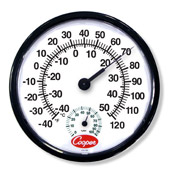 Cooper Wall Thermometer/Humidity Meter - Specialty Thermometers