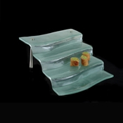 Culinaire Rectangular 4 Stair Glass Display - Display Risers