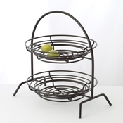 Culinaire Black Round 2 Tier Riser - Display Risers