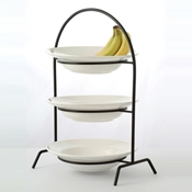 Culinaire Black Round 3 Tier Riser - Display Risers