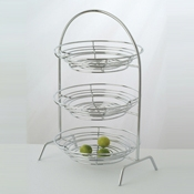 Culinaire Chrome Round 3 Tier Riser - Display Risers