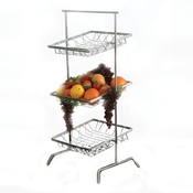 Culinaire Chrome 3 Tier Square Tilted Riser - Display Risers