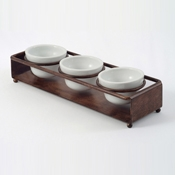 Culinaire Cabo 3 Ring Condiment Stands - Display Risers