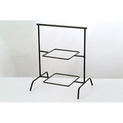 "Culinaire 19"" 2 Tier Black Square Riser - Display Risers"