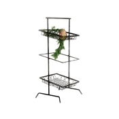Culinaire Black 3 Tier Square Tilted Riser - Display Risers