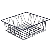 "Culinaire Black 12"" x 4"" Square Basket - Display Risers"