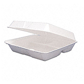 Dart Foam Hinged-Lid Carryout Containers - Styrofoam Food Containers