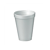 Dart 6 oz. Foam Cups - Disposable Cups & Lids