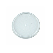 Dart 4 oz Vented White Plastic Lids - Styrofoam Food Containers