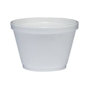 Dart 6 oz Round Squat Foam Food Containers - Styrofoam Food Containers
