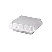 Dart Small 3-Compartment Foam Containers - Styrofoam Food Containers