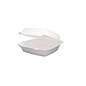 Dart Large 1-Compartment Foam Containers - Styrofoam Food Containers