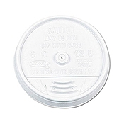 Dart Slip-Thru, White 8 oz Lids - Disposable Cups & Lids