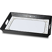 Dinex Black Polypropylene Room Service Trays - Dinex