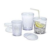 Dinex 12 oz Clear Swirl Iced Tea Tumblers - Dinex