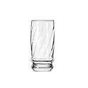 Dinex 6 oz Clear Swirl Iced Tea Tumblers - Dinex