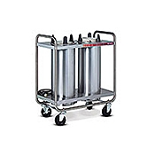 "Dinex Open 2-Silo 9-1/8"" Plate Dispenser - Dinex"