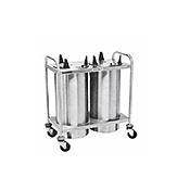 "Dinex Open 3-Silo 10-1/8"" Plate Dispenser - Dinex"