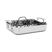 "Demeyere 48740 Industry Roasting Pan  15-1/2""L x 13""W  with rack - Stainless Steel Roasting Pans"
