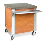 "Dinex 63"" Solid Top Counter - Kiosks and Carts"