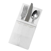 Dinex Filigree Pocket-Fold Paper Dinner Napkins - Dinex